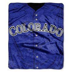 Colorado Rockies Blanket 50x60 Raschel Jersey Design #ColoradoRockies