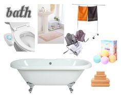 """my bathroom"" by ioakleaf ❤ liked on Polyvore featuring interior, interiors, interior design, home, home decor, interior decorating, Urban Outfitters, JCPenney Home, Tag and bathroom"