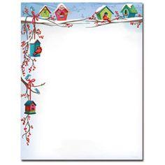 Christmas Birdhouses Letterhead