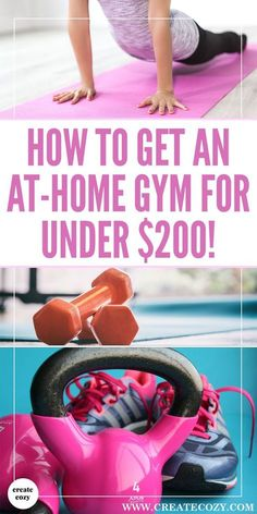 Trying to get healthier at home? If you're looking for gym and exercise equipment that's inexpensive and fits in a small space then this post is for you! There's kettle bells, pull up bars, ab wheels and lots more inspiration for easy home exercises and ways to keep fit and stay active!