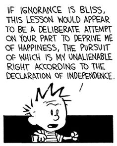 Calvin and Hobbes Best Calvin And Hobbes, Calvin And Hobbes Quotes, Calvin And Hobbes Comics, Funny Quotes, Funny Memes, Hilarious, Cartoon Network Adventure Time, Fun Comics, Teacher Humor