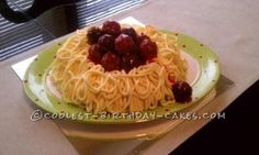 Coolest Spaghetti and Meatballs Birthday Cake... This website is the Pinterest of homemade birthday cakes
