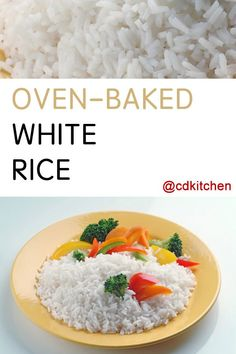 Want a foolproof way to cook rice? Try this oven-baked method by CDKitchen cooking expert, Christine Gable. She gives you easy to follow instructions for baking rice in the oven for perfect results every time.| CDKitchen.com