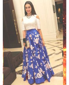 Buy Fashionlife White and black embroidered Silk lehenga with choli Online Indian Gowns Dresses, Indian Fashion Dresses, Indian Designer Outfits, Indian Outfits, Designer Dresses, Fashion Outfits, Designer Sarees, Indian Wedding Outfits, Western Outfits