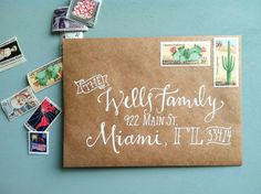 Hand Addressed Envelopes  The Claire by Makewells on Etsy