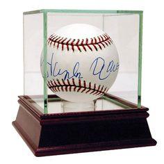 Hank Aaron Signed MLB Baseball in Blue