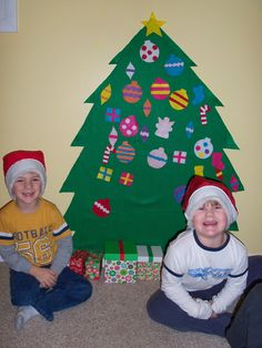 The Thoughtful Spot Day Care: Dramatic Play play santa and decorate tree