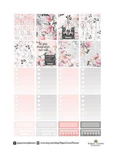 FASHION BLOGGER Weekly Planner Sticker Kit/Printable Planner