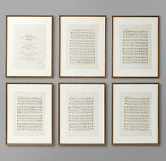 English Sheet Music Art - Set Of 6 traditional artwork Framed Sheet Music, Sheet Music Decor, Vintage Sheet Music, Music Sheets, Music Room Art, Music Artwork, Music Rooms, Music Music, Music Lyrics
