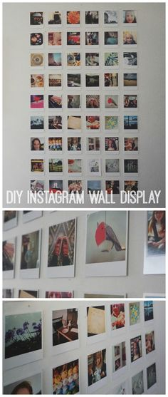 How to create a DIY Instagram Wall Display. Full tutorial, hints and tips in the blog post.