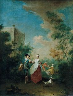 NORBERT GRUND (1717-1767)  Scene in the park II.