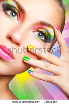 Google Image Result for http://image.shutterstock.com/display_pic_with_logo/633400/633400,1326687679,1/stock-photo-creative-many-coloured-rainbow-makeup-92821567.jpg