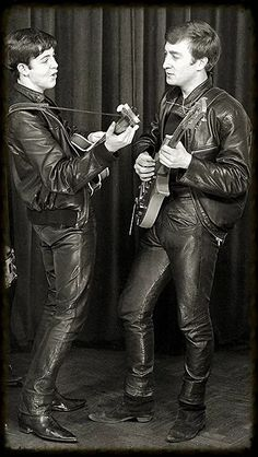 Paul and John back in the early days of The Beatles
