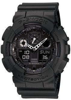 9b3d873b03d G-Shock Men s Black Resin Strap Round 55mm Watch GA100-1A1 Sport Watches