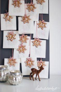 advent calendar from Liebesbotschaft (cookies to eat with tea)