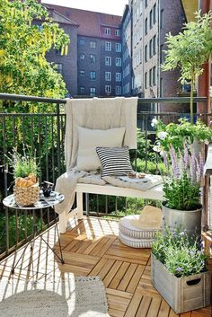 Relaxed and lived in small balcony | Small Balcony Design | Musings on Momentum