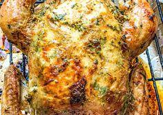 Pui auriu întreg la cuptor cu lămâie și usturoi, rețetă de Cristina Gray - Rețete Cookpad Orzo, Lasagna, Turkey, Meat, Ethnic Recipes, Food, Salads, Turkey Country, Essen