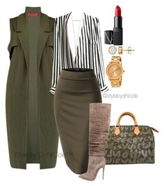 """""""Untitled #3092"""" by stylebydnicole ❤ liked on Polyvore featuring Louis Vuitton, Boohoo, Christian Louboutin, Movado, NARS Cosmetics, women's clothing, women's fashion, women, female and woman"""