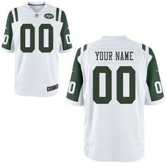 034cf4a8835 Men New York Jets Custom Game White NFL Jerseycheap nfl jerseys