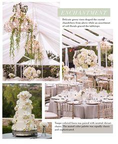 neutral tented wedding