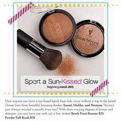 New younique products! March 2015. Bronzer is here in time for warmer weather. $32 for the bronzer and $32 for the puff brush. Check them out here: www.lovelyproducts.com/corinamitchell