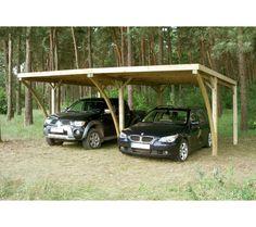 GARDENAS Carport CAPRI double - Bois - 30,3m² - 2 voitures