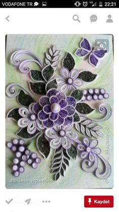 Quilling Flower Designs, Quilling Flowers, Quilling Patterns, Paper Flowers, Butterfly Flowers, Quilled Paper Art, Quilling Paper Craft, Paper Crafts, Neli Quilling