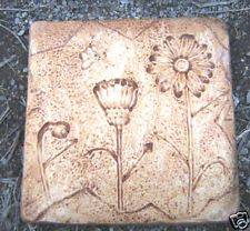 Gostatue mold distressed  daisy stepping stone mould concrete plaster