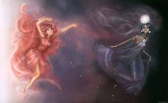 Eos and Selene by Andrea (Arbetta on deviantart)