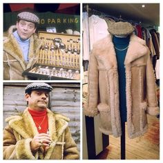 LOVELY JUBBLY! Del Boy outfit - sheepskin coat £45 - polo neck £10 - tweed cap £10 #onlyfoolsandhorses #delboy #derektrotter #davidjason #outfit #costume #classic #lovelyjubbly #sitcom #british #tvshow #sheepskin #coat #jacket #winter #cosy #tweed #hat #cap #poloneck #vintage #retro #fashion #vintageguruscotland #byresroad #twitter