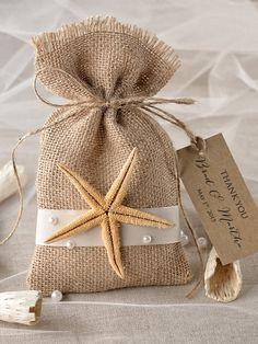 Custom listing 20 Beach Rustic Favor Bag by 4invitationwedding