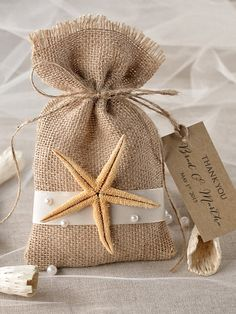 Beach Rustic Favor Bag
