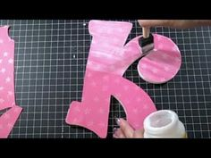 Alternating Wood Letters.  Tutorial for covering wooden letters with paper or fabric.  Need to get started.  Courtesy of karleekrafts