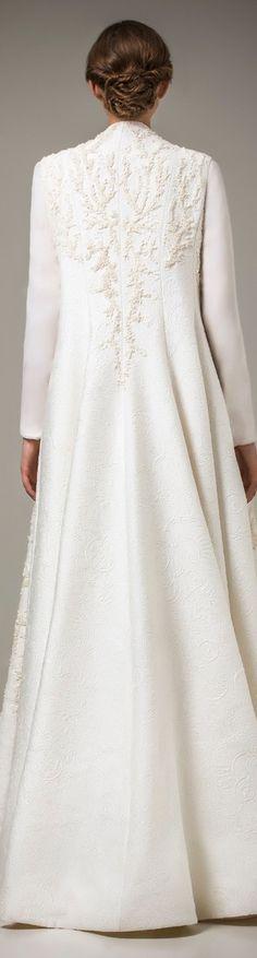 Ashi Studio Caftan 2016 | a Ivory Dress Coat | Bridal Coat | Wedding Dress Ideas