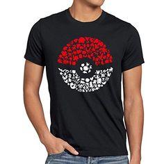 A.N.T. Atrapa más Monstruos Camiseta para hombre T-Shirt poke ball videojuego #regalo #arte #geek #camiseta
