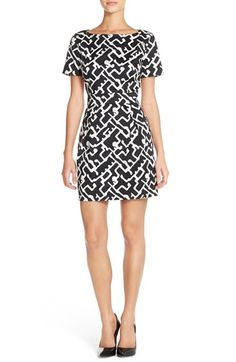 French Connection Print Stretch Cotton Sheath Dress available at #Nordstrom