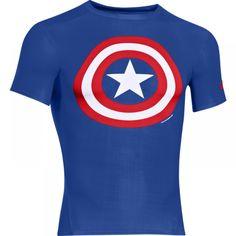 Under Armour Alter Ego Compression Top Captain America Compression Tops Ellesse, Skate T Shirts, Cool T Shirts, Men's Shirts, Tottenham Hotspur, Alter Ego, Capri Leggings, Captain America, Mma Clothing