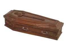 1 x SMALL COFFIN  BOX Wicca Witch Pagan Goth RITUAL SPELL WORK #TarotBox