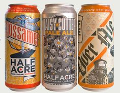 """Half Acre Beer label -- Nice to see a Chicago-based brewer kicking ass. Going to need to """"research"""" how the brew inside tastes ;-)"""