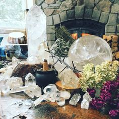"""newmoongoddess: """" Burning a hand rolled Palo Santo cone this morning as I work. Smells so good. My laptop is beside me on the purple couch, ready for me to place my orders for the day and a new pile... Wiccan Rituals, Wicca Witchcraft, Pagan Witch, Magick, Meditation Crystals, Healing Crystals, Purple Couch, Witch Room, Soul Stone"""