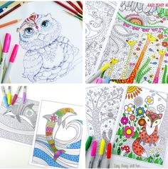 101 free printable coloring pages - I could spend hours doing this! So many beautiful options, I love each and every one of them. Truly gorgeous collection!
