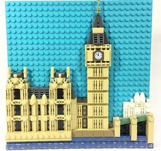 ZiO Chao's latest framed landmark is Big Ben. Using only a few layer of plates was enough to achieve depth and detail in this framed work.