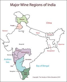 India Wine Map #Wine #Wineeducation