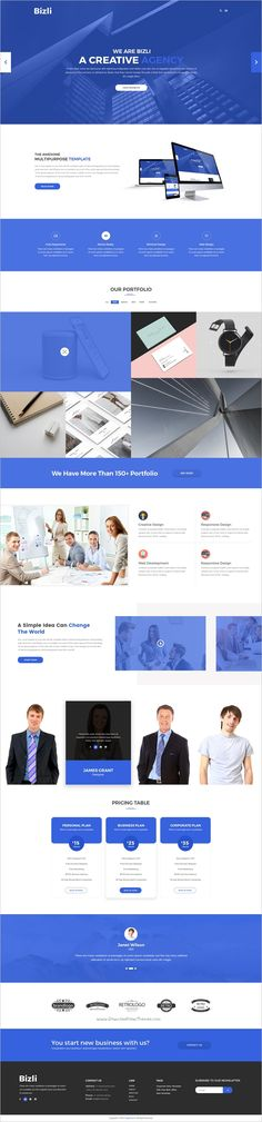 Bizli is a modern and creative design #PSD template for multipurpose #agency websites download now➩ https://themeforest.net/item/bizli-creative-multipurpose-psd-template/19242834?ref=Datasata