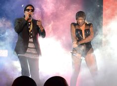 Jay and Bey look fierce as they open their joint On The Run Tour on June 25 in Miami Gardens, Fla.