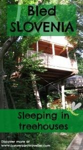 Glamping - Sleeping in a tree house at Garden Village Bled, Slovenia
