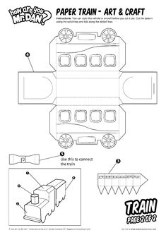 Paper Train - Art & Craft - How Are You, Mr. Dan? - Learn English Note By Note