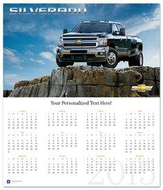 Silverado on the Rocks 2015 Wall Calendar