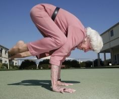 Yoga in their 90s! She can do it so can you. Get up and do it. <3