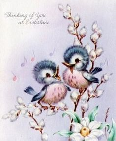 ❤️Thinking of you at Easter Vintage Birthday Cards, Vintage Greeting Cards, Decoupage Vintage, Vintage Ephemera, Bird Pictures, Vintage Pictures, Easter Art, Jolie Photo, Vintage Easter